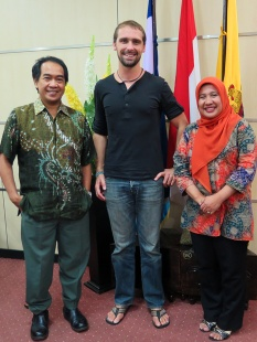 Prof. Jamaluddin and Prof. Rohani, my counterparts at Hasanuddin University