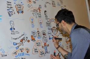 Live scribing at CommOcean