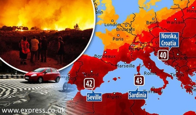 Heatwave map